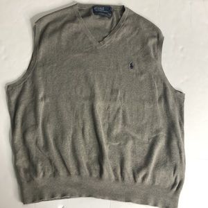 Polo By Ralph Lauren Sweater Size XXL Gray/Brown